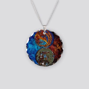 Harvest Moons Firebird & Dragon Necklace