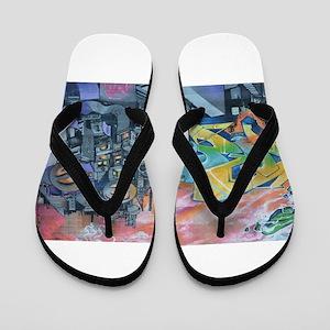 Graffiti City Scape Flip Flops
