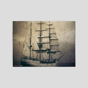 rustic sailboat nautical 5'x7'Area Rug
