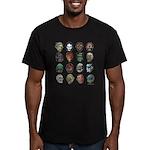Horror Movie Monsters Men's Fitted T-Shirt (da
