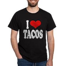 I Love Tacos Dark T-Shirt