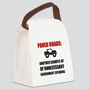 Paved Roads Canvas Lunch Bag