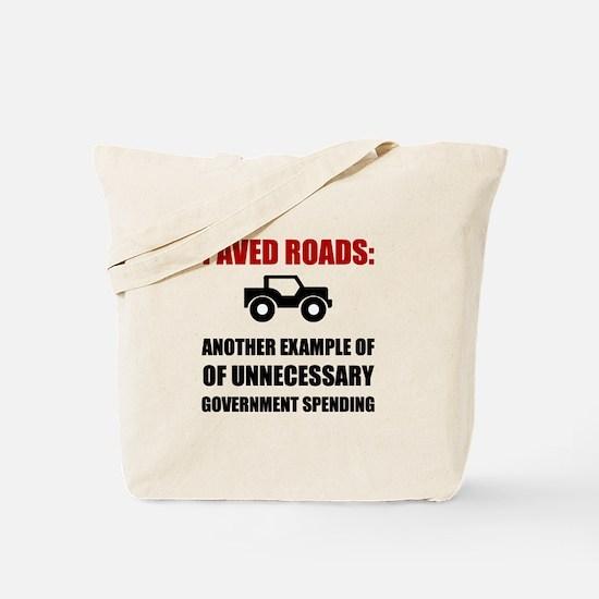 Paved Roads Tote Bag
