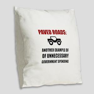 Paved Roads Burlap Throw Pillow