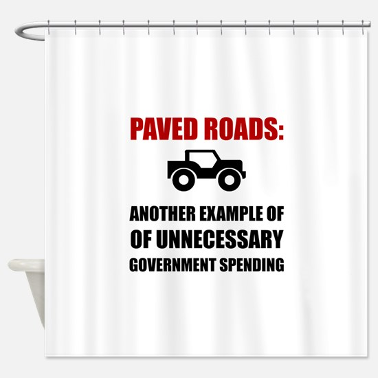 Paved Roads Shower Curtain