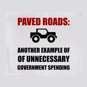 Paved Roads Throw Blanket