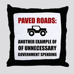 Paved Roads Throw Pillow