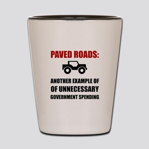 Paved Roads Shot Glass