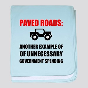 Paved Roads baby blanket