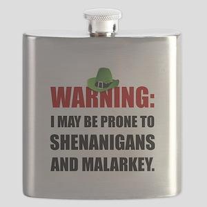 Shenanigans And Malarkey Flask