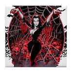 Vampira Spider Web Gothic Tile Coaster