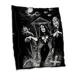 Plan 9 Vampira Burlap Throw Pillow