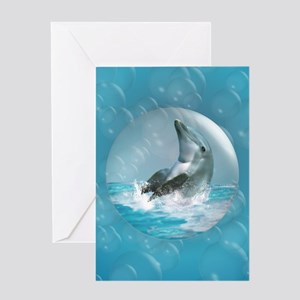 Bubble Dolphin Greeting Card