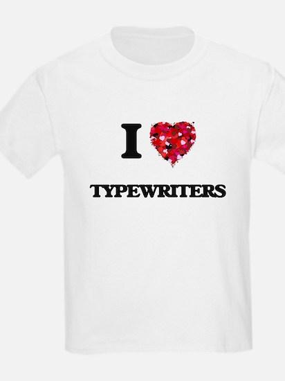 I love Typewriters T-Shirt