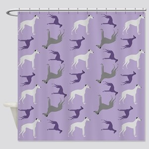 Greyhounds on Purple Shower Curtain