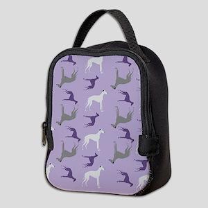 Greyhounds on Purple Neoprene Lunch Bag