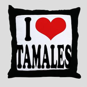 I Love Tamales Throw Pillow
