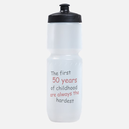 The First 50 Years Of Childhood Sports Bottle
