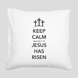 Risen Jesus Square Canvas Pillow