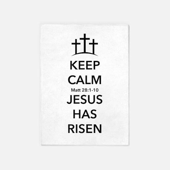 Risen Jesus 5'x7'Area Rug