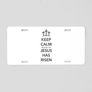 Risen Jesus Aluminum License Plate
