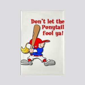 Ponytail Rectangle Magnet