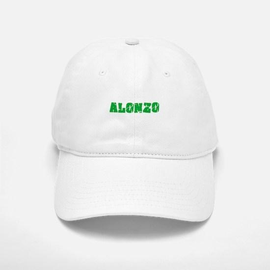 Alonzo Name Weathered Green Design Baseball Baseball Cap