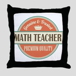 Math Teacher Throw Pillow