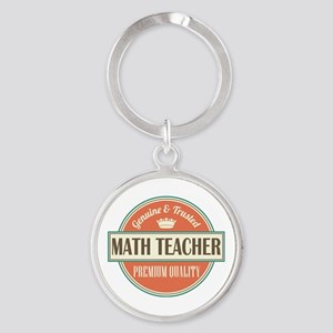 Math Teacher Round Keychain