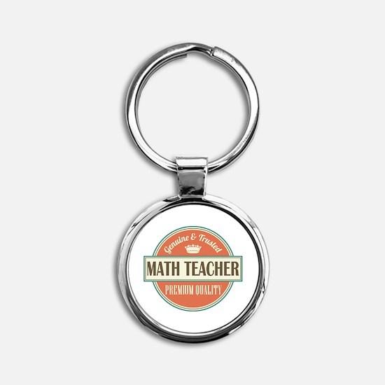Math Teacher Round Keychain