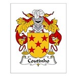 Coutinho Family Crest  Small Poster
