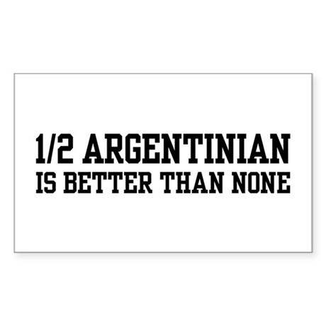 1/2 Argentinian Rectangle Sticker