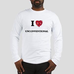 I love Unconventional Long Sleeve T-Shirt