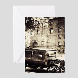 Urban New York vintage Car Greeting Cards