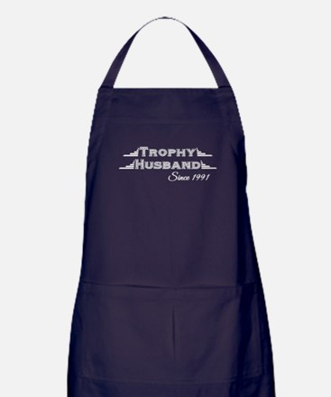 Trophy Husband Since 1991 Apron (dark)