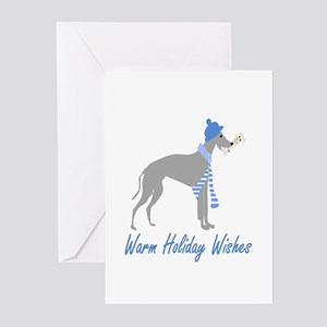 Warm Holiday Wishes Greeting Cards