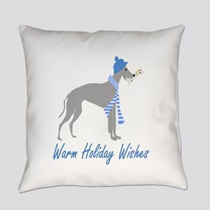Warm Holiday Wishes Everyday Pillow