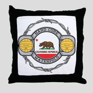 Hard Core California Volleyball Throw Pillow