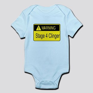 Warning Stage 4 Clinger Body Suit