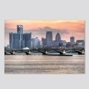 Detroit HDR Skyline II -  Postcards (Package of 8)
