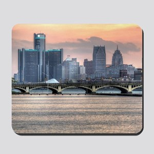 Detroit HDR Skyline II - Rotated Mousepad
