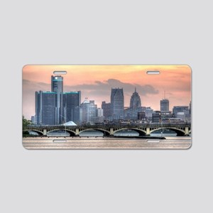 Detroit HDR Skyline II - Ro Aluminum License Plate