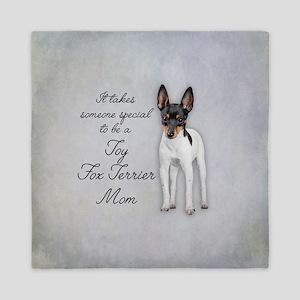 Toy Fox Terrier Mom Queen Duvet