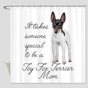 Toy Fox Terrier Mom Shower Curtain