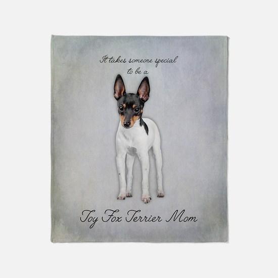 Toy Fox Terrier Mom Throw Blanket