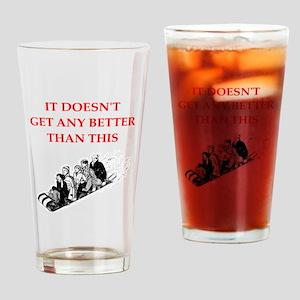 tobogganing Drinking Glass