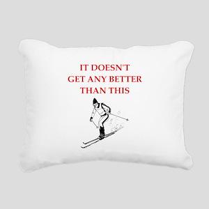 skiing Rectangular Canvas Pillow