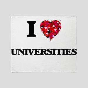 I love Universities Throw Blanket