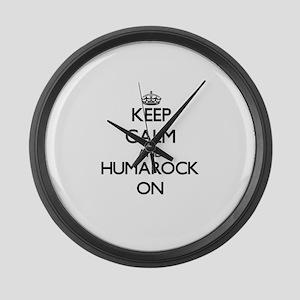 Keep calm and Humarock Massachuse Large Wall Clock