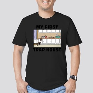 My First Trap house Men's Fitted T-Shirt (dark)